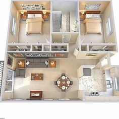 apartment floor plans between oakville and germantown Sims House Plans, House Layout Plans, House Layouts, Sims 4 Houses Layout, One Floor House Plans, Guest House Plans, Small Floor Plans, 2 Bedroom House Plans, House Rooms
