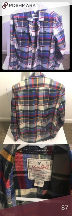 American Eagle Flannel Long-sleeve Small American Eagle Flannel Long-sleeve Small American Eagle Outfitters Shirts Casual Button Down Shirts