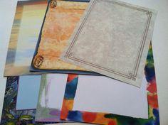 Scrap Booking Decorative Paper  18 page set by IdleHandsYarnSupply, $8.95