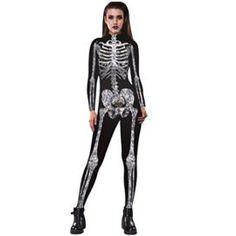 AOJIAN Womens Skeleton Bones Halloween Cosplay Bodycon Clothing 6a1049f4b