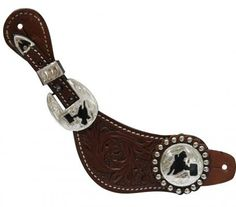 Medium Showman™ ladies size spur strap with floral tooling