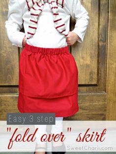 EASY 3 step fold over skirt