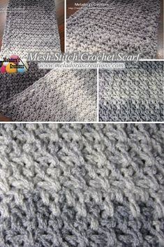 Your place to learn how to Crochet the Mesh Stitch Scarf for FREE. by Meladora's Creations - Free Crochet Patterns and Video Tutorials
