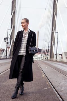 FILIPPA K Jacket   FOREVER 21 Knitwear  H&M Necklace  DIESEL Pants  TOPSHOP Shoes   CHANEL Bag | Kira Kosonen