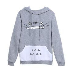Description Adorable Totoro pullover hoodie, perfect for colder weather condition and chilly nights. Totoro from the classic anime movie My Neighbor Totoro. Get your Totoro hoodie now and take advanta