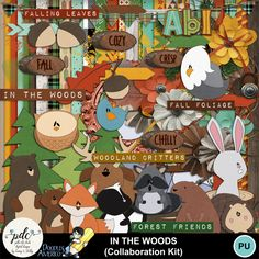Super cute fall kit with unique and quirky animals - we teamed up with our favorite doodle designer to bring this kit to you.