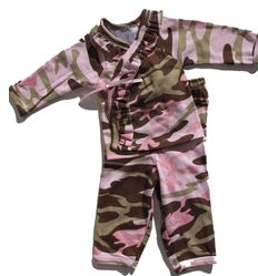 baby girl camo stuff | ... mad sky baby girl pink camo kimono set two piece pink camouflage baby