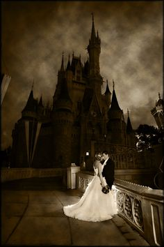 I love the affect used to make Cinderella's Castle at Walt Disney World look like this!    Magic Kingdom Photography: Stephanie with Disney Fine Art Photography    Source: Magical Day Weddings