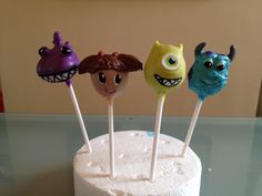 Monsters Inc Cake Pops