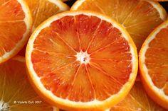 Una fetta d'arancia tarocco .