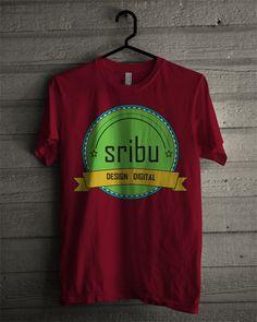 T-shirt sribu.com (maroon)