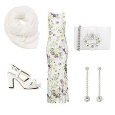 Voglia di primavera in questo abito che abbinato ad accessori gioiello sarà adatto anche a una cerimonia.
