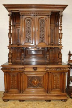 Antiques Active Art Nouveau Buffet In Carved Chestnut Wood By Edouard Diot Circa 1900 Outstanding Features