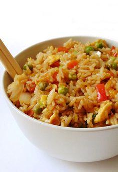 arroz chino con verduras y huevo | arroz chino con verduras receta