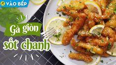 Cách làm gà giòn sốt chanh tươi giòn nhâm nhi mê ly • Vào bếp cùng Điện ... Chicken Wings, Beverage, Meat, Cooking, Food, Kitchen, Drink, Essen, Meals