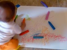get the idea of art activity for infant in your daycare