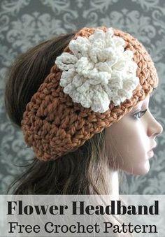Free Crochet Pattern -- a cute crochet headband and loopy flower crochet pattern. By Posh Patterns.