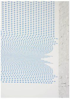 Richard Wright, Untitled (wallpainting detail, installation view Gagosian Gallery New York) 2005
