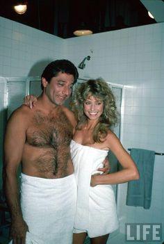 Joe Namath and Farrah Fawcett