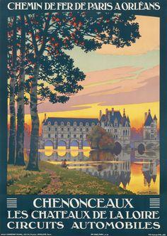 Chenonceaux - Chemin de Fer de Paris a Orleans by Constant-Duval (1926) | Shop original vintage posters online: www.internationalposter.com