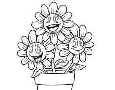 Resultado de imagem para flores para colorir em partes  Ideias de