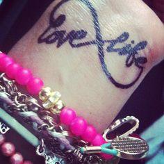 Love live infinity tattooCute temporary tat!! Sharpie and topcoat!
