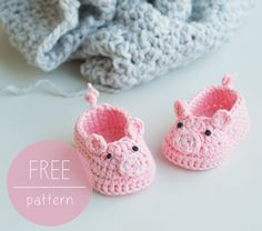 Free Crochet Baby Patterns Free Crochet Pattern Piggy Ba Booties Cro Patterns Free Crochet Baby Patterns Free Crochet Ba Blankets Patterns For Easy Popular When Can Babies. Free Crochet Baby Patterns Ba Bonnet Crochet Patterns C. Crochet Pig, Crochet Mignon, Bonnet Crochet, Cute Crochet, Crochet For Kids, Crochet Chain, Crotchet, Baby Booties Free Pattern, Crochet Shoes Pattern