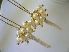 SALE  Beautiful White Pearl Goldfill Bridal by Jenalynscreations
