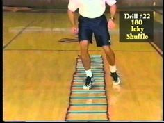 30 Agility Ladder Drills - Beginner, Intermediate and Advanced Variations Agility Workouts, Basketball Workouts, Basketball Skills, Agility Training, Speed Training, Girls Basketball, Basketball Legends, Basketball Games, Football Drills