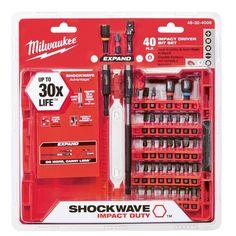 Milwaukee Shockwave Impact Duty Steel Driver Bit Set (40-Piece)-48-32-4008 - The Home Depot////$19.97
