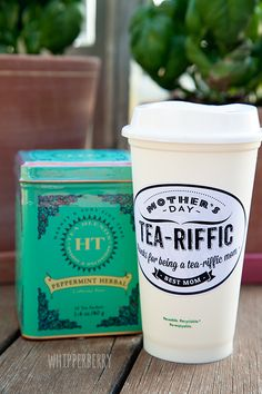 Tea-Riffic Mom printable cup label for #mothersday + a HUGE GIVEAWAY
