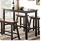 Amazon.com: Brand New Bar Table Espresso Would Finish.: Kitchen & Dining