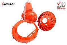 Vespa 125 VNB4T VNB5T VNB6T Flywheel Fan + Cover + Head Cover RED #S203 @MGE