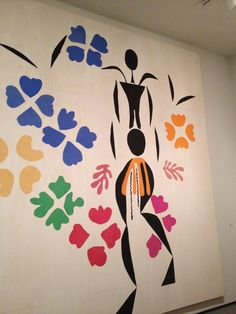 Matisse: paper cut out (post-1941 when he became ill). Form in abstract manner.