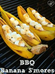 Banana Smores recipe the best addition to your barbeque get together. Dessert on the bbq._zpsv9mto8zr