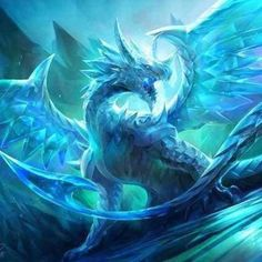 The legendary crystal dragon - optical from cat-meff. - The legendary crystal dragon – optical from cat-meff.devianta … on – Beyond our w - Snow Dragon, Ice Dragon, Green Dragon, Water Dragon, Dragon Manga, Mythical Creatures Art, Mythological Creatures, Magical Creatures, Artwork Fantasy