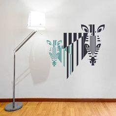 dual colour zebra wall sticker by sirface graphics | notonthehighstreet.com