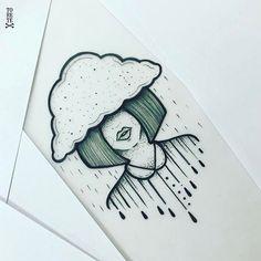 Lluvia de mujer  . .  #tsunamitattoo #toretestyle #toretetattoo #ink #inked #tinta #yeah #ilustration #lluvia #cry #nowomennocry #tattoo #puntoscomono #nube #clouds #clou #black #olequeole