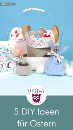 Are you still looking for perfect gifts for Easter? I will show you 5 simple DIY ideas for Easter: sewing a gift utensil, sewing tulips out . Sewing Patterns Free, Free Sewing, Pochette Diy, Making Baskets, Bunny Bags, Sewing For Beginners, Diy For Teens, Diy Videos, Gift Baskets