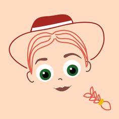 Jessie Illustration © Clareta Avbiani Toy Story Theme, Toy Story Birthday, Toy Story Party, Cute Disney, Disney Art, Disney Pixar, Cumple Toy Story, Festa Toy Story, Disney Toys