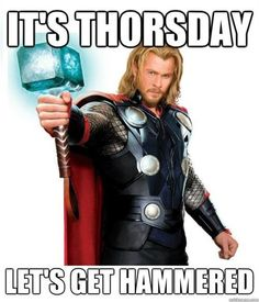 I mean as long as I have a good reason to explain to the cops wy I'm sleeping nude in the middle of the street...cause its thorsday