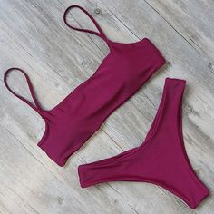 Bikini swimwear women swimsuit solid bikini set push up padded