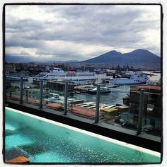 Rooftop pool, Romeo Hotel in Naples, Italy