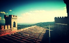 Sunset at the castle and panorama #Italy #skyline www.castellomonterone.com