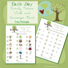 Family Fun ~ Earth Day Activity --Nature Walk & Scavenger Hunt from www.realcoake.com