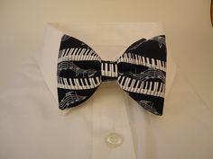 Piano Keys Black Bow tie by sewfairycute on Etsy, $24.99