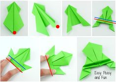 How about maing some colorful origami frogs that can jump? Just follow this simple tutorial and you are ready to go! This origami for kids project is fairly simple to make and kids will have lots of fun playing with these once they are done! How to make an origami frog tutorial What you'll need …