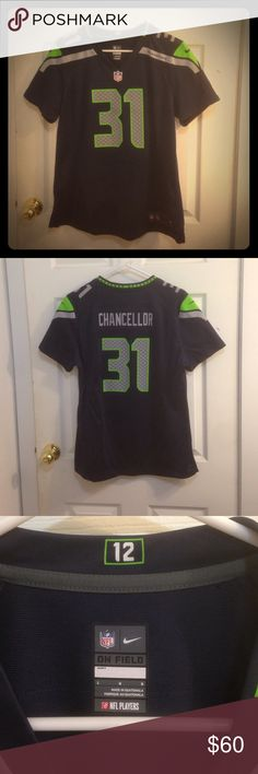 SALE THRU 11/11⚡️Seahawks Chancellor #31 jersey Seattle Seahawks Kam Chancellor jersey #31. Bought because Kam is my favorite and didn't even stop to look at the size first. Authentic Nike NFL gear, size large. Worn one time, in excellent condition. Nike Tops
