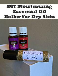 Homemade facial moisturizer with essential oils for dry skin. DIY moisturizing recipe.