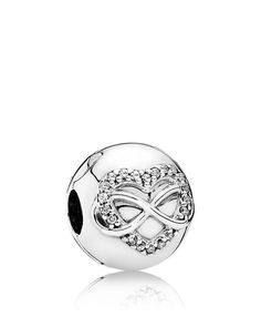 Pandora Charm - Sterling Silver & Cubic Zirconia Infinity Heart, Moments Collection